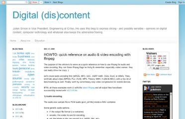http://juliensimon.blogspot.com/2008/12/howto-quick-reference-on-audio-video.html