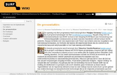 http://wiki.surf.nl/display/SURFASR/De+presentaties