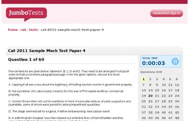 http://cat.jumbotests.com/tests/cat-2011-sample-mock-test-paper-4
