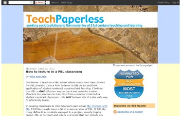 http://teachpaperless.blogspot.com/2012/04/how-to-lecture-in-pbl-classroom.html