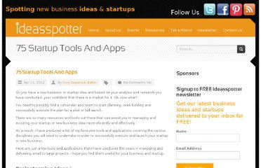 http://ideasspotter.com/Resource/75-startup-tools-and-apps/