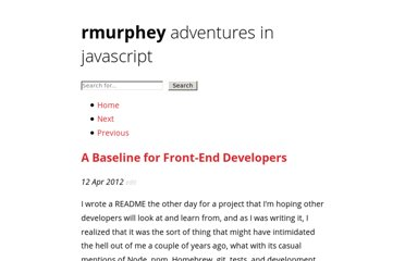 http://rmurphey.com/blog/2012/04/12/a-baseline-for-front-end-developers/