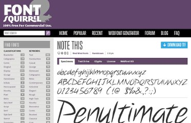 http://www.fontsquirrel.com/fonts/note-this