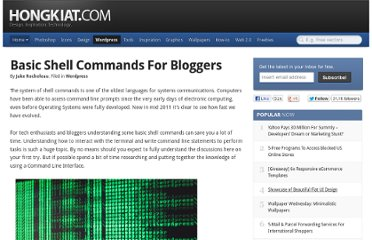 http://www.hongkiat.com/blog/basic-shell-commands-for-bloggers/