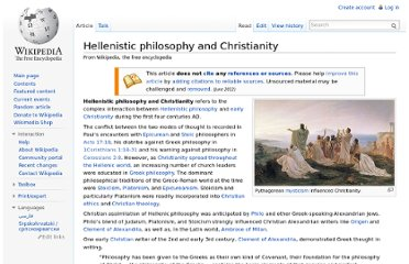 http://en.wikipedia.org/wiki/Hellenistic_philosophy_and_Christianity