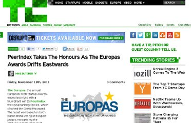 http://techcrunch.com/2011/11/18/peer-index-takes-the-honours-as-the-europas-awards-drifts-east/
