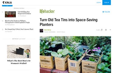 http://lifehacker.com/5808617/turn-old-tea-tins-into-space+saving-planters