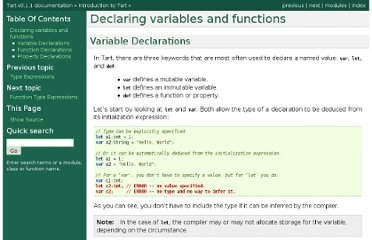 http://docs.tart.googlecode.com/hg/intro/declarations.html#variable-declarations
