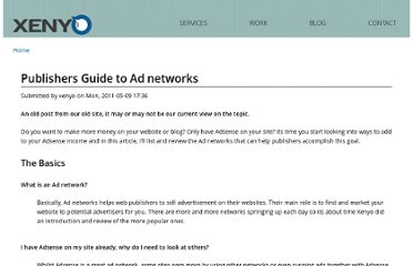 http://www.xenyo.com/old/guide-to-ad-networks-for-publishers