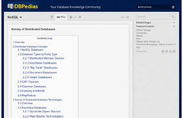 http://dbpedias.com/wiki/NoSQL:Survey_of_Distributed_Databases#Overview