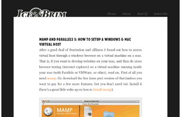 http://icetothebrim.com/2010/mamp-and-parallels-5-how-to-setup-a-windows-mac-virtual-host/