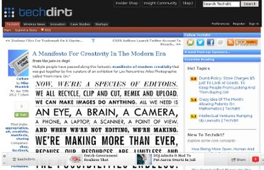 http://www.techdirt.com/articles/20120405/02190418380/manifesto-creativity-modern-era.shtml