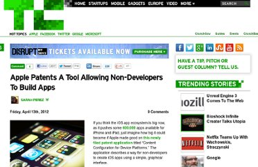 http://techcrunch.com/2012/04/13/apple-patents-a-tool-allowing-non-developers-to-build-apps/