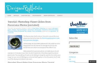 http://designedbynatalie.com/2010/10/04/photoshop-planet-globes-from-panorama-photos-tutorial-revisited/