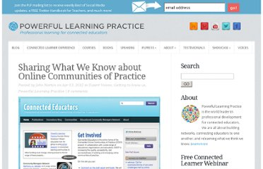http://plpnetwork.com/2012/04/13/sharing-what-we-know-about-online-communities-of-practice/