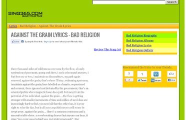http://www.sing365.com/music/lyric.nsf/Against-The-Grain-lyrics-Bad-Religion/4239B381E48293F448256969002A525C