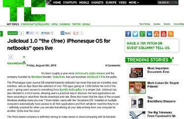 http://techcrunch.com/2010/08/06/jolicloud-1-0-the-free-iphonesque-os-for-netbooks-goes-live/