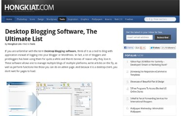 http://www.hongkiat.com/blog/desktop-blogging-clients-the-ultimate-list/