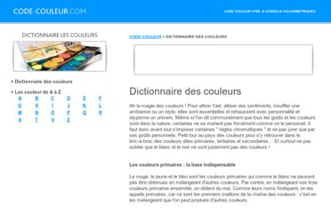 http://www.code-couleur.com/dictionnaire/index.html