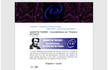 http://audiolivres.wordpress.com/2009/12/04/augustin-thierry-considerations-sur-lhistoire-de-france/#more-1371