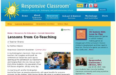 http://www.responsiveclassroom.org/article/lessons-co-teaching