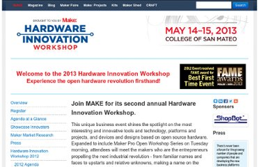 http://makezine.com/hardware-innovation-workshop/