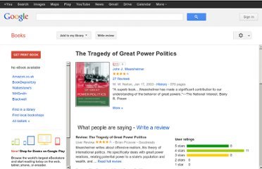 http://books.google.co.uk/books/about/The_Tragedy_of_Great_Power_Politics.html?id=lDzCD_C_ipoC