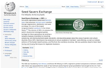 http://en.wikipedia.org/wiki/Seed_Savers_Exchange