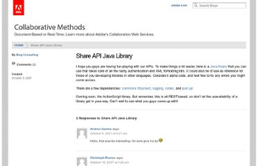 http://blogs.adobe.com/collabmethods/2007/10/share_api_java_library.html