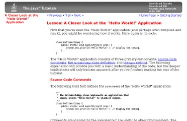 http://download.oracle.com/javase/tutorial/getStarted/application/index.html