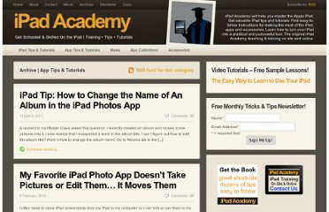 http://ipadacademy.com/category/app-tips-tutorials
