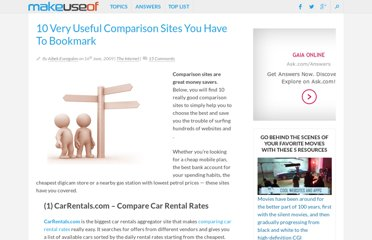 http://www.makeuseof.com/tag/10-useful-comparison-sites/