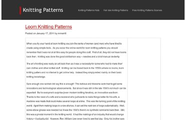 http://www.knittingpatternshats.com/loom-knitting-patterns.html