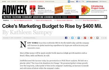 http://www.adweek.com/news/advertising-branding/cokes-marketing-budget-rise-400-mil-76054