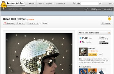 http://www.instructables.com/id/Disco-Ball-Helmet/
