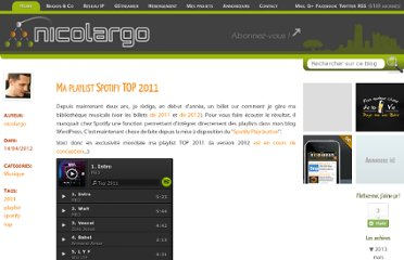 http://blog.nicolargo.com/2012/04/ma-playlist-spotify-top-2011.html