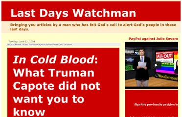 http://lastdayswatchman.blogspot.com/2009/06/in-cold-blood-what-truman-capote-did.html