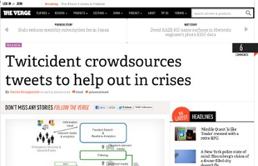 http://www.theverge.com/2012/4/15/2948447/twitcident-emergency-twitter-crowd-source-crisis-management