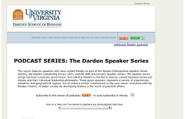 http://media.darden.virginia.edu/podcasts/Series.asp?SER_ID=4
