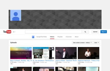 http://www.youtube.com/user/GoogleTechTalks/videos