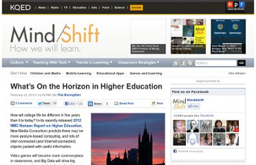http://blogs.kqed.org/mindshift/2012/02/whats-on-the-horizon-in-higher-education/