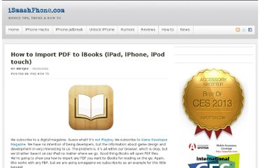 http://ismashphone.com/2011/05/how-to-import-pdf-to-ibooks-ipad-iphone-ipod-touch.html