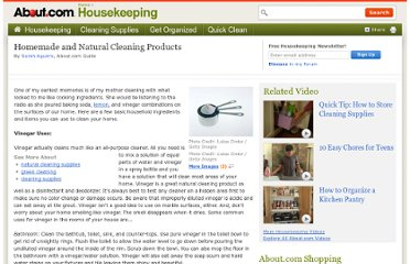 http://housekeeping.about.com/od/environment/a/Homemade-And-Natural-Cleaning-Products.htm