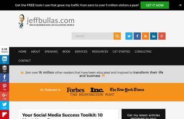 http://www.jeffbullas.com/2012/04/16/your-social-media-success-toolkit-10-must-have-resources/