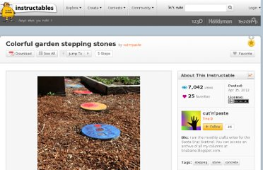 http://www.instructables.com/id/Colorful-garden-stepping-stones/