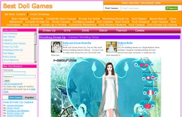 http://www.bestdollgames.com/game/2749/summer-wedding-dress.html