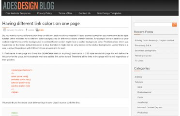 http://www.adesdesign.net/blog/tutorials/css/having-different-link-colors-on-one-page/