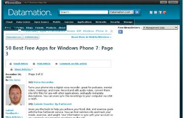 http://www.datamation.com/mowi/article.php/12069_3917846_3/50-Best-Free-Apps-for-Windows-Phone-7.htm