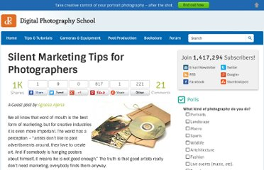 http://digital-photography-school.com/silent-marketing-tips-for-photographers