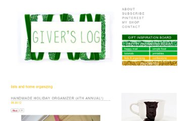 http://www.giverslog.com/?tag=lists-and-home-organizing